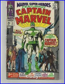 Marvel Super-Heroes #12/Silver Age Comic Book/1st Captain Marvel/VF