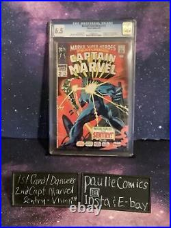 Marvel Super-Heroes #13 CGC 6.5 1st Carol Danvers 2nd Captain Marvel Comic 1968
