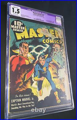 Master Comics #23 (1942) CGC 1.5 FR/G Classic Captain Marvel Jr Trilogy cover