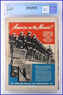 Master Comics #25 CGC 3.5 VG- Fawcett 1942 Captain Marvel Junior
