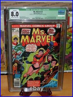 Ms. Marvel #1 CGC 8.0 (Q) Carol Danvers Captain Marvel Movie Comics key