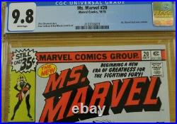 Ms Marvel #20 Cgc 9.8 Nm/m White Pages 1st Black Costume Captain Marvel