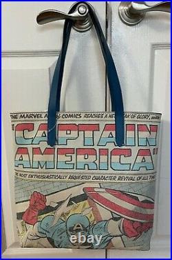 NEW Coach 2547 Marvel Tote Captain America Leather & Canvas Shoulder Bag $298