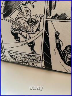 NWT -COACH Marvel Jes White Red Comic Captain Marvel Crossbody Belt Shoulder Bag