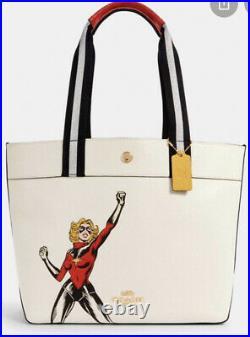 NWT Coach Marvel Jes Carol Danvers Leather Purse Tote Bag Captain Marvel