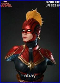 Queen Studios Life Size Captain Marvel Bust Carol Danvers New Avengers Marvel