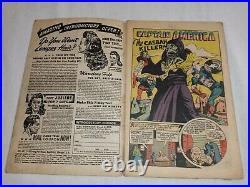 Rare 1946 Captain America Comics #56 Bucky Human Torch Great Raw 3.0+ Copy