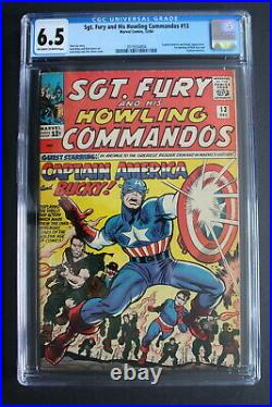SGT FURY & His Howling Commandos #13 1st Meets CAPTAIN AMERICA Lee KIRBY CGC 6.5