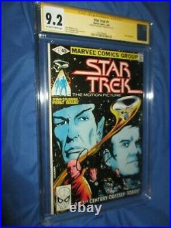 STAR TREK #1 CGC 9.2 SS Signed by William Shatner CAPTAIN KIRK Marvel Comics