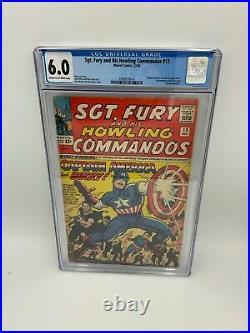 Sgt. Fury #13 CGC 6.0 Captain America & Bucky Appearance Marvel Comics