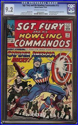 Sgt Fury # 13 CGC 9.2 OWithW (Marvel, 1964) 1st appearance Captain America in SA