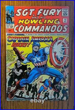 Sgt. Fury and his Howling Commandos #13 1st time with Captain America and Bucky