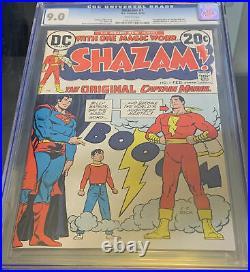 Shazam 1 1973 Cgc 9.0 1st Appearance Captain Marvel Dc Comics Key Wp White Pages