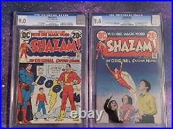 Shazam Lot #1-6 CGC 1973 DC Comics 1st Captain Marvel Since Golden Age 9.0 9.4