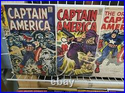 Silver age Captain America lot #100-442 with 109 110 111 117 GORGEOUS HIGH GRADES