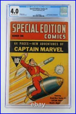 Special Edition Comics #1- CGC 4.0 VG FAWCETT 1940 1st Captain Marvel Book