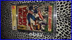 Stan Lee Signed Ss Signature Series Captain America 102 Cgc 5.5 1968 Jack Kirby