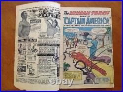 Strange Tales Comic Book #114 Marvel Comics 1951 Captain America Returns