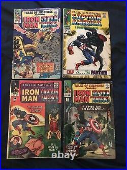 TALES OF SUSPENSE Iron Man & Captain America lot of 4 comics #68,70,72,98 (KEY)