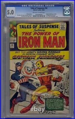 Tales Of Suspense #58 Cgc 5.0 Captain America Vs. Iron Man 2nd Kraven