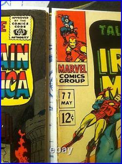 Tales Of Suspense #70 #77 Marvel comics TOS L@@K! Captain America Iron Man NICE