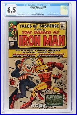 Tales of Suspense #58 Marvel 1964 CGC 6.5 Captain America VS. Iron Man. 2nd Ap