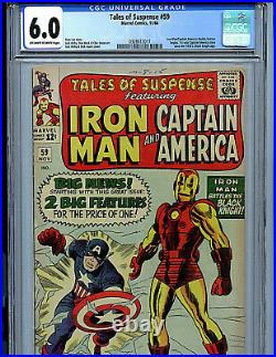 Tales of Suspense #59 CGC 6.0 Marvel Comics 1964 1st Jarvis Captain America K9