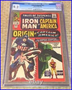 Tales of Suspense #63 1st Silver Age origin Captain America 1965 CGC 9.2 NM