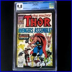 Thor #390 (1988) CGC 9.8 Captain America lifts Thor's Hammer! Marvel Comic