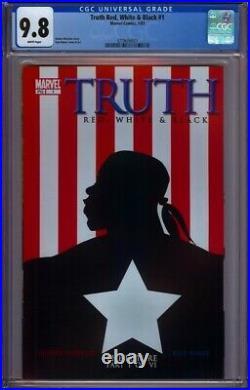 Truth Red White & Black #1 Cgc 9.8 1st Isaiah Bradley As Captain America Disney