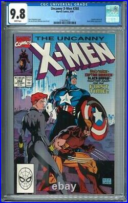 Uncanny X-Men #268 CGC 9.8 NM/MT WP 9/90 1990 Marvel Comics Captain America MCU