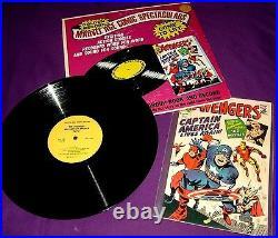Vintage 1966 Marvel Comics Avengers # 4 Golden Record Set, 1st Captain America