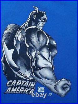 Vintage 1997 Marvel Comic Images T-shirt (size XL) Captain AMERICA SOLO