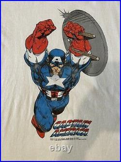 Vintage 90s Marvel Comic Images Captain America Shirt