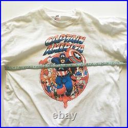 Vintage 90s Marvel comics comic images Captain america long sleeve XL