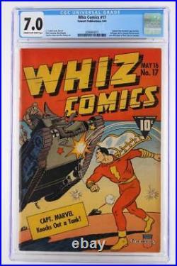 Whiz Comics #17 CGC 7.0 FN/VF Fawcett 1941 Captain Marvel! 3rd Highest Grade