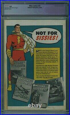Whiz Comics #25 Cgc Apparent 5.0 1st Captain Marvel Jr. Cr/ow Pages 1941