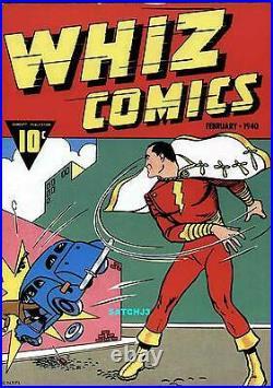 Whiz Comics #2 (1940) Shazam! Captain Marvel Cover Plaque Classic Rare 1974