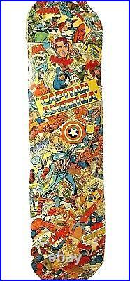 XALU collage skate street art captain america marvel comics erro cesar dirosa jr