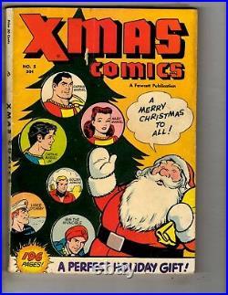 X-Mas Comics # 5 FN/VF Fawcett Golden Age Comic Book Captain Marvel Santa J314
